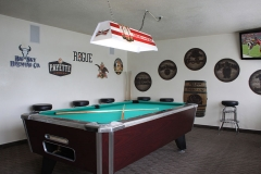 Pool Table in Lounge at Clover Creek Inn