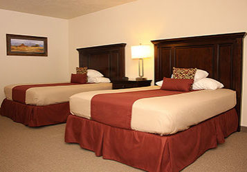 Two queen beds room at Clover Creek Inn